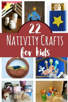 22 simple crafts inspired by the Nativity Story to Make with Kids. Fun Christmas Crafts for Kids that help them understanding the meaning of Christian Christmas. Christmas Crafts For Kids To Make, Christmas Activities For Kids, Toddler Christmas, Holidays With Kids, Christmas Printables, Ccd Activities, Toddler Activities, Holiday Crafts, Nativity Crafts