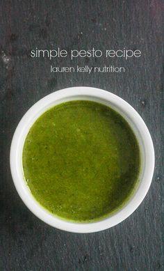Simple Pesto Recipe from Lauren Kelly Nutrition