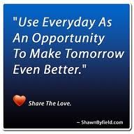 use each day to the fullest