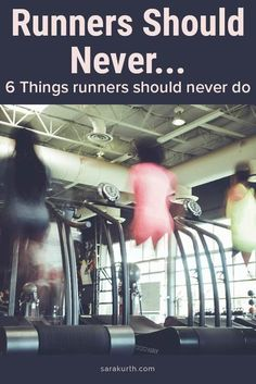 I'm not a huge believer in 'always' and 'never' statements. Even so, there are a few things that runners should never do. Things that aren't helpful, useful, or productive. On the blog find out the 6 things runners should never do. #running #runner Running In The Dark, Running Form, How To Start Running, How To Run Faster, Time Of Day, Running Injuries, It Band, Running On Treadmill, Slip And Fall