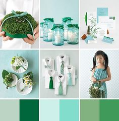 Pantone announced Emerald as their 2013 Color of the Year. We love how this fresh palette used aqua hues to add an extra pop to the emerald tones.