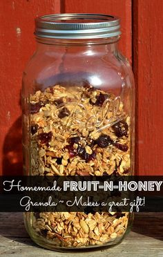 Easy, Homemade Fruit and Honey Granola