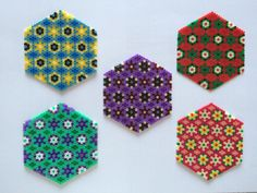 Coasters hama beads by little-perle
