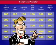game show for any presentation topic