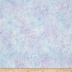 Kaufman Artisan Batiks Fancy Feathers Scroll Lavender from @fabricdotcom  From Robert Kaufman, this batik fabric collection features hand painted flair and is perfect for quilting, apparel, and home decor accents. Colors include shades of blue and purple.