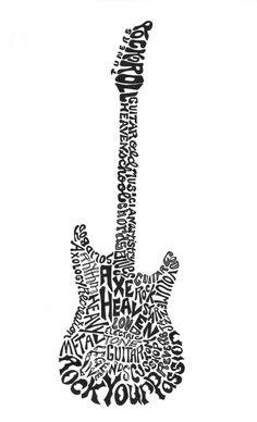 Calligramme guitar by Joni James