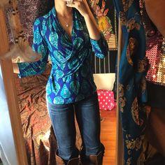 New Bohemian blouse Never worn. JONES NEW YORK. Could fit a medium fine Jones New York Tops Blouses