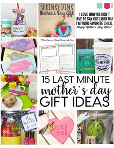 Last Minute Mother's Day Gifts 15 Last Minute Totally Doable Mother's Day Gift Ideas — things to easily make in time for this weekend! Homemade Mothers Day Gifts, Mothers Day Crafts, Mother Gifts, Fathers Day Gifts, Gifts For Mom, Happy Mothers Day Mom, Mom Day, Cute Gifts, Diy Gifts