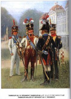 Grand Duchy or Warsaw; Tambour du 13e regiment, Tambour -major de la garde nationale tambour-major et sergent du 1er régiment