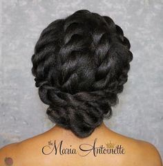 African American Twists Updo