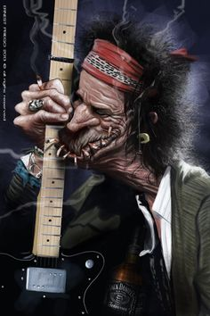 Keith Richards - Now this one approaches the line between caricature and insult, but I have a feeling Richards loves it. You never know though. People can be very touchy about their looks and how they are depicted. Brix