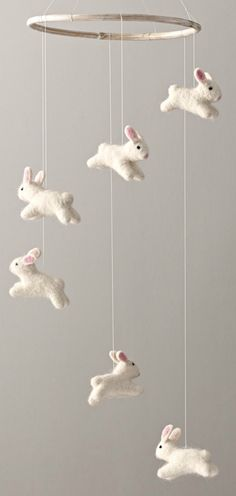 Wool Felt Bunny Mobile