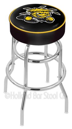 Wichita State Shockers (WSU) Bar Stool http://www.rallyhouse.com/wichita-state-shockers-black-pub-stool-4462596?utm_source=pinterest&utm_medium=social&utm_campaign=Pinterest-WSUShockers $129.99