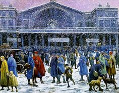 The Gare de l'Est in Snow, 1917. Maximilien Luce (1858-1941) neo-impressionism