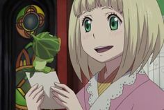 Later, Shiemi starts to walk out of the protective circle, surprising the others, and Shura sees a parasite in the back of Shiemi's neck. Description from aonoexorcist.wikia.com. I searched for this on bing.com/images