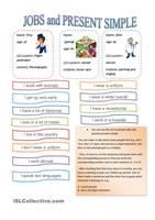 This sheet is made to improve your vocabulary. There are three exercises with different topics. One topic is about jobs, and the others are usual actions. The  student must match the two columns. - ESL worksheets
