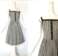 Vintage 1950s folk hearts dress