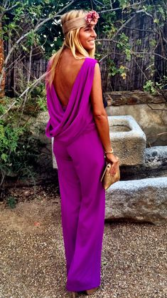 Fiesta Outfit Y Mas · Bilimsi Fiesta Outfit, Summer Wedding Outfits, Wedding Guest Looks, Casual Fall Outfits, Elegant Outfit, Looks Style, Chic Wedding, Magenta, Purple