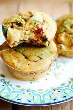 Mini Vegan Chickpea Spinach and Tomato Quiche - Recipes, Tarts and Quiches - Divine Healthy Food