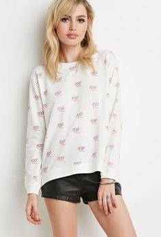 100 Print Pullover Sweater   Forever 21 - 2000156903