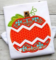 Machine Embroidery chevron-pumpkin-applique, For the girls - Sewing Appliques, Applique Patterns, Applique Designs, Quilt Patterns, Quilt Designs, Rose Patterns, Sewing Machine Embroidery, Machine Applique, Embroidery Stitches