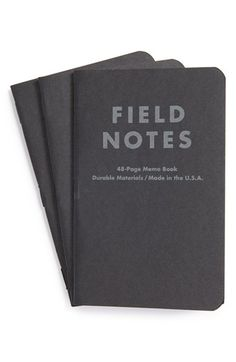 Men's Field Notes 'Pitch Black' Dot-Graph Memo Books (3-Pack) Black One Size by: Field Notes @Nordstrom
