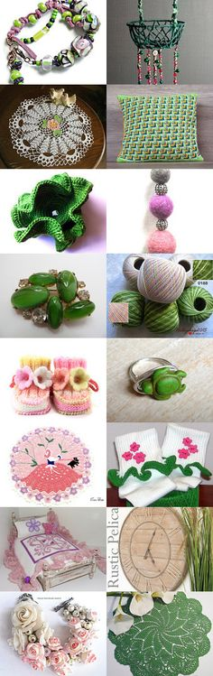 Green pink by Chris on Etsy--Pinned+with+TreasuryPin.com