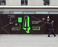 Panique à L'UCP — Installation Typographique, Signaletique
