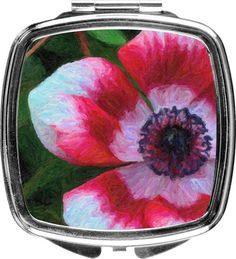 Multicolored Poppy Compact  Custom From Nature's Images By Design  #natureimagesbydesign  #photography  #nature, $20.00