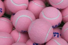 Pink Tennis Balls, I might just have to pick up this game! Tennis anyone? I've got pink balls! Hot Pink, Pink Love, Pretty In Pink, Pale Pink, Purple, Pink White, Dog Birthday, Birthday Parties, 10th Birthday