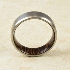 Titanium & African Wenge Wood Lined Ring // Engagement Ring // Exotic Wood Ring // Men's Wedding Band // Women's Ring // Gift Ring