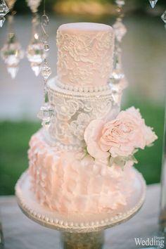 Wedding Cake | Peach Color | Flower  Photography | Tiffany Smith & Dan Speer | Aura Atelier  See more at: http://www.elegantwedding.ca/