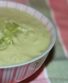 Cream of Celery Soup - get out your Vitamix for this easy and raw soup recipe!