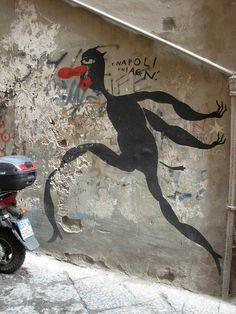 ...e Napoli chiagn'    di Diego Miedo: Napoli - Centro Storico - Vico San Geronimo