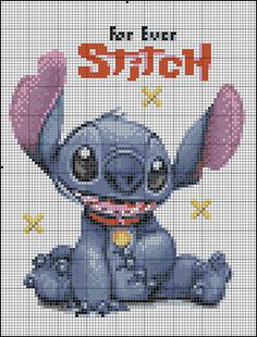 Lilo and Stitch cross stitch pattern Disney Cross Stitch Patterns, Cross Stitch For Kids, Counted Cross Stitch Patterns, Cross Stitch Charts, Cross Stitch Designs, Beaded Cross Stitch, Crochet Cross, Cross Stitch Embroidery, Embroidery Patterns