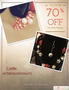 We are happy to announce 70% OFF our Entire Store. Coupon Code: AFTERHOLIDAYSALE15 Expiry: 10-Jan-2016 Click here to view all products:  Click here to avail coupon: https://orangetwig.com/shops/AABvok1/campaigns/AAB4Dj8?cb=2016001&sn=dzdartistry&ch=pin&crid=AAB4D28