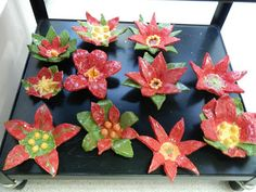 that artist woman: Christmas Projects, including these clay poinsettia. Look for link within post to find detailed instructions.
