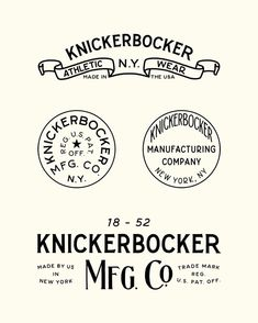 "655 Likes, 11 Comments - Joshua Minnich (@joshuaminnich) on Instagram: ""Portions of the branding, stamps, buttons and packaging I created for @knickerbockermfgco. Some of…"""