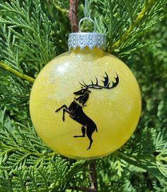House Baratheon Sigil Game of Thrones Parody Christmas Holiday Ornament * Add Year and/or Name for FREE to back  * Robert * Joffery * Tommen
