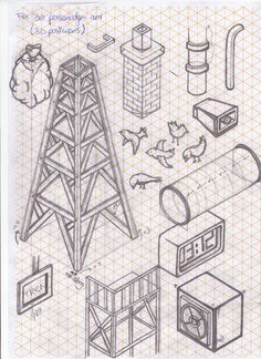 How To Draw Almost Anything In Isometric Projection  Miquel Tura