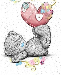 Sending love and prayers! Tatty Teddy, Teddy Bear Images, Teddy Bear Pictures, Cute Images, Cute Pictures, Watercolor Card, Moon Bear, Blue Nose Friends, Bear Drawing