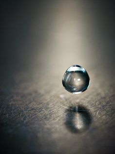 *droplet, suspended in time.