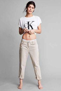 Calvin Klein '90s Khaki Boyfriend Jean - Urban Outfitters