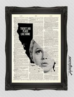 Theres No Place Like Home California AvantPrint by AvantPrint, $8.00