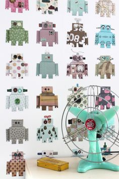 Studio Ditte Behang Interieur Inspiratie interieur trends muurdecoratie Robot wallpaper 03. Kinderkamer Kids