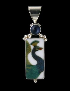 Mosiac Tourmaline Handmade Sterling Siver Plated Pendant 2 Pocketfriendly Vintage Style! Ethnic Wear!
