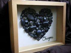 Collect rocks, sea shells, etc from honeymoon.