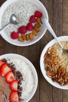 "3 keto overnight ""oats"" recipes: pumpkin spice latte, vanilla, and fudge #keto #lowcarb #highfat #vegan #paleo"