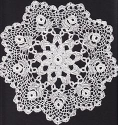 Hand made lace from Koniaków in Poland Crochet Doilies, Crochet Lace, Snowflake Pattern, Irish Crochet, Table Covers, Poland, Dream Catcher, Elsa, Free Pattern