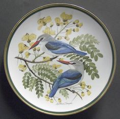 Franklin Mint Woodland Birds Of The World: Woodland Kingfisher - Artist: Arthur Singer